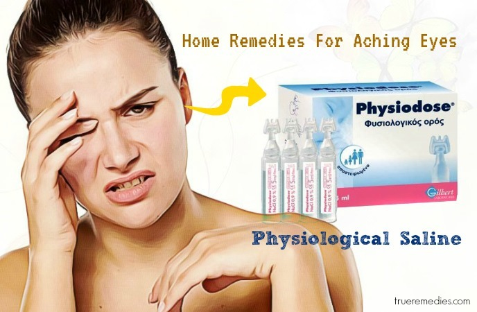 home remedies for aching eyes - physiological saline