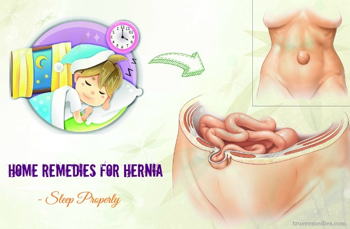 home remedies for hernia - sleep properly