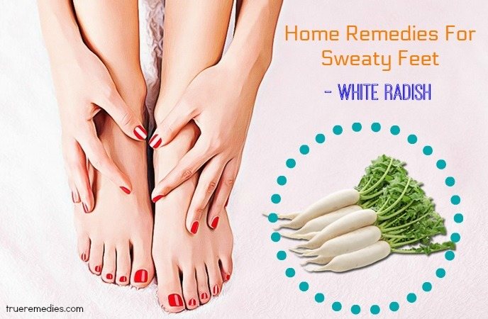 home remedies for sweaty feet - white radish