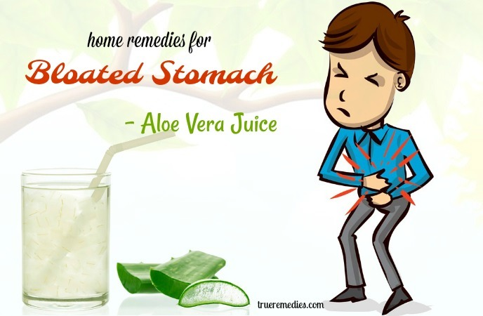 home remedies for bloated stomach - aloe vera juice