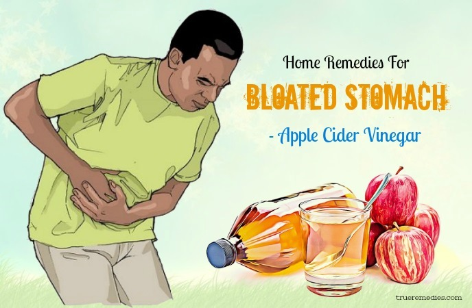home remedies for bloated stomach - apple cider vinegar