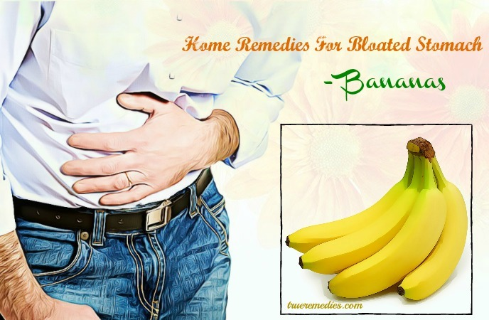 home remedies for bloated stomach - bananas