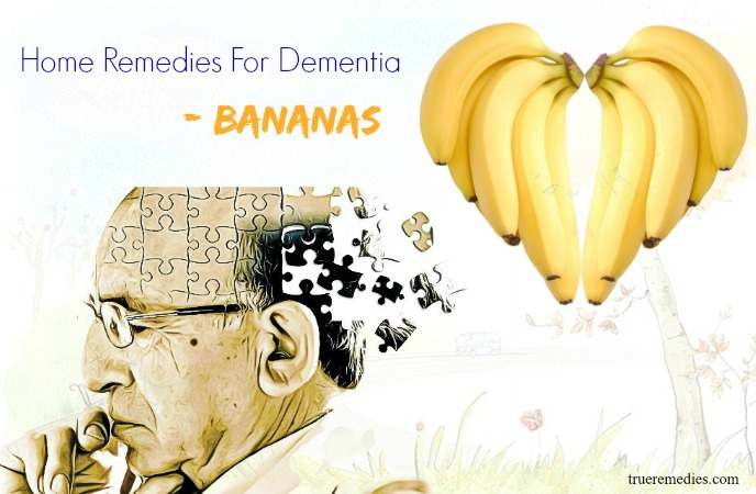 home remedies for dementia - bananas