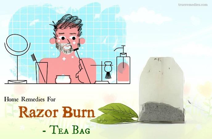 home remedies for razor burn - tea bag