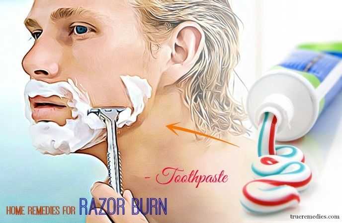 home remedies for razor burn - toothpaste