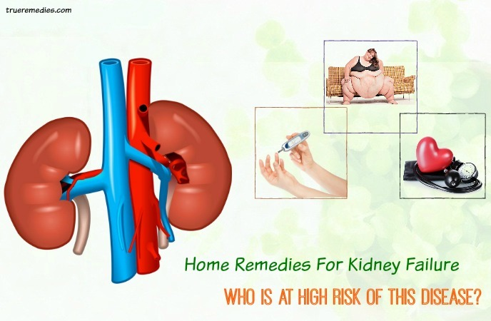 home remedies for kidney failure - who is at high risk