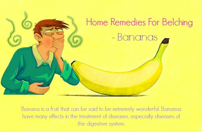 home remedies for belching - bananas