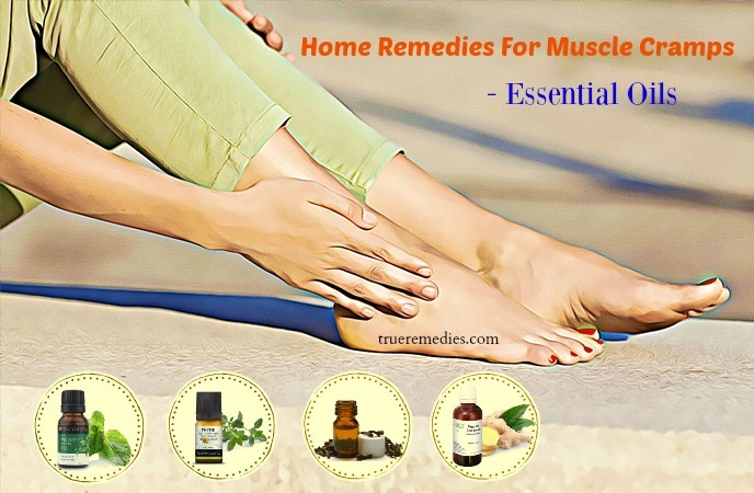 home remedies for muscle cramps - essential oils