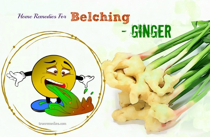 home remedies for belching - ginger