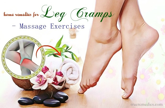 home remedies for leg cramps - massage exercises