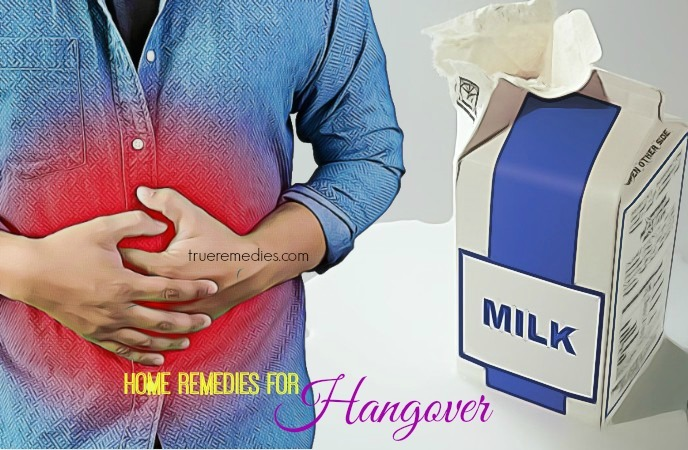 natural home remedies for hangover - milk