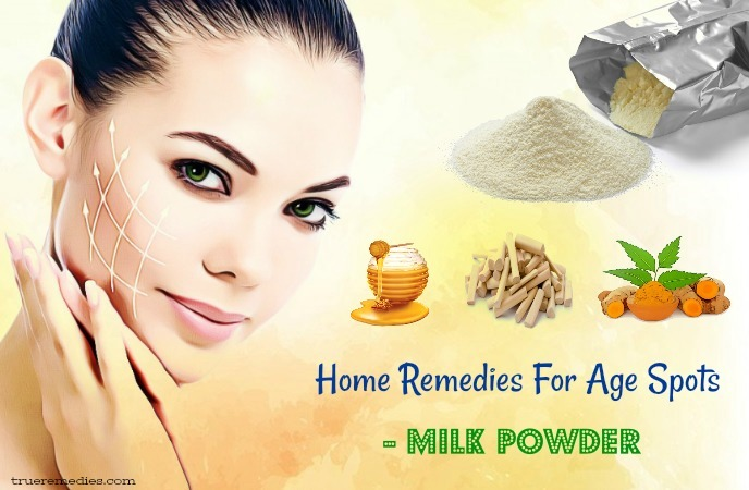 home remedies for age spots - milk powder