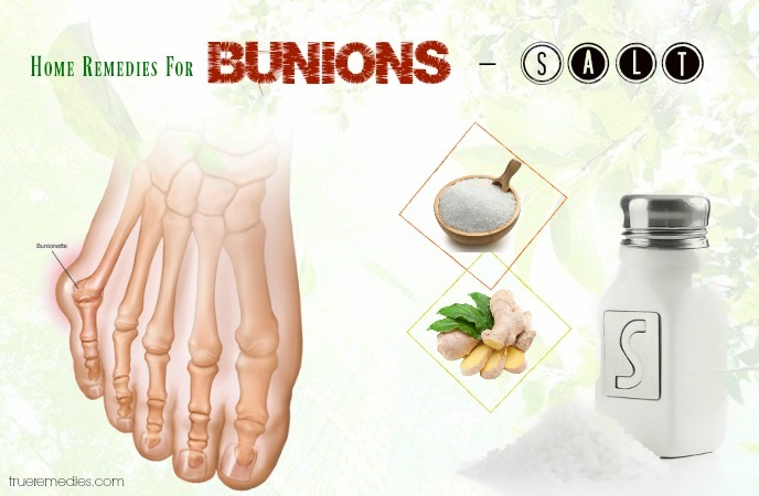 home remedies for bunions - salt