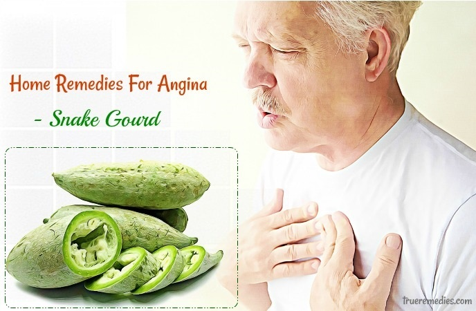 home remedies for angina - snake gourd