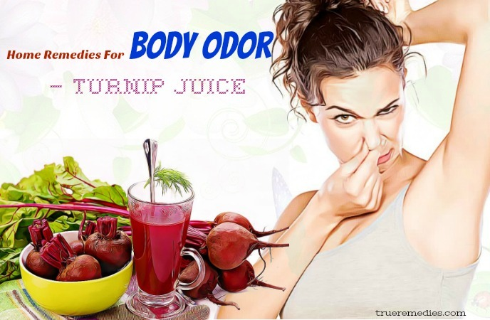 home remedies for body odor - turnip juice