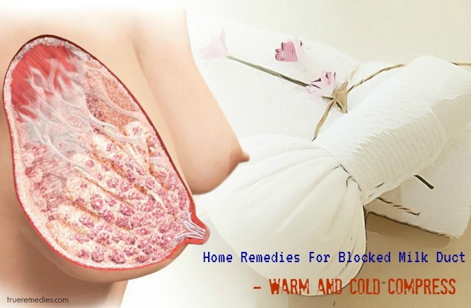 home remedies for blocked milk duct - warm and cold compress