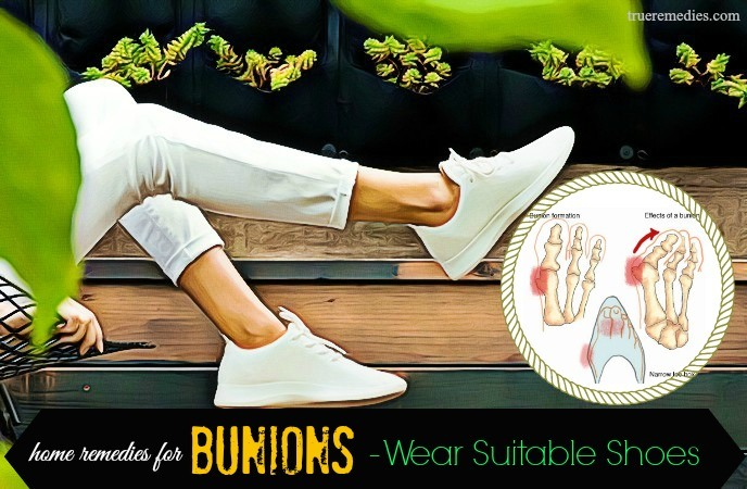 home remedies for bunions - wear suitable shoes