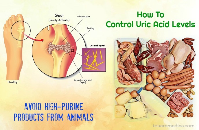 tips on how to control uric acid levels - avoid high-purine products