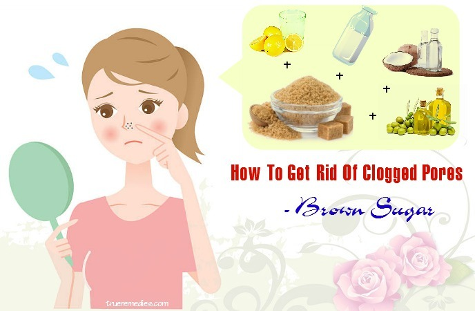 how to get rid of clogged pores on chin - brown sugar