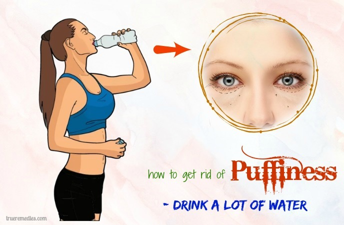 how to get rid of puffiness - drink a lot of water