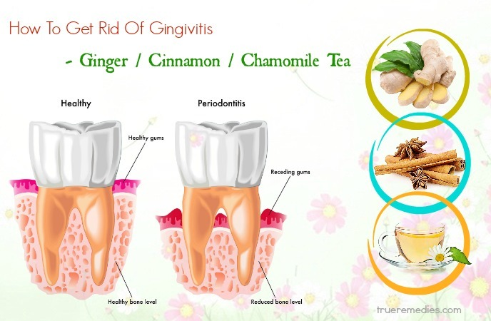 how to get rid of gingivitis - ginger cinnamon chamomile tea