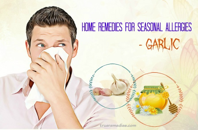 home remedies for seasonal allergies - garlic
