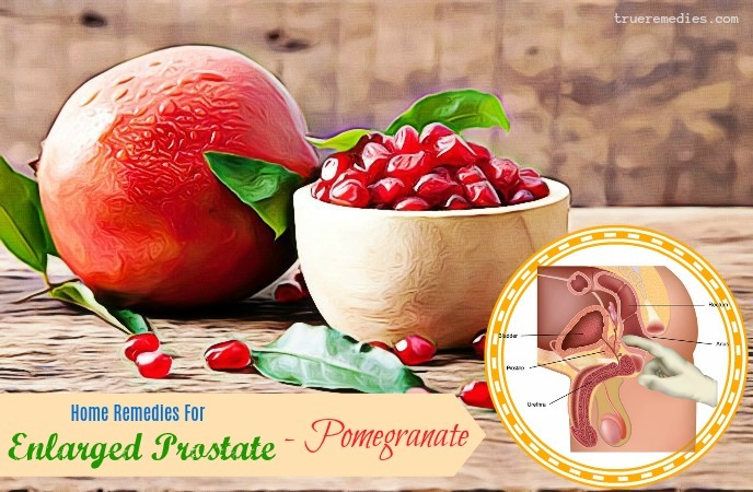 home remedies for enlarged prostate gland - pomegranate