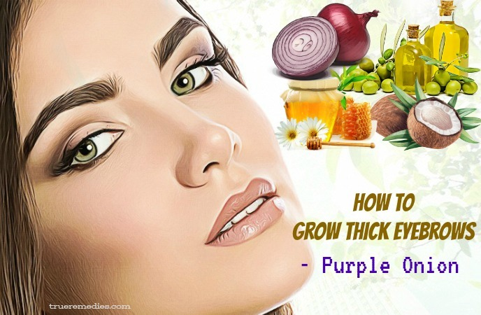 how to grow thick eyebrows and eyelashes - purple onion