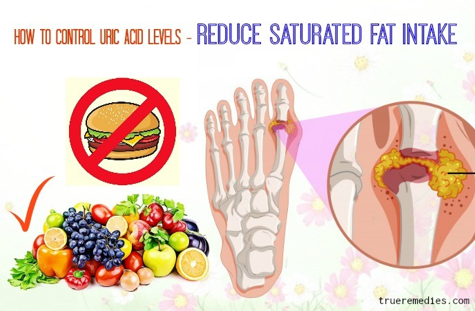 how to control uric acid levels naturally - reduce saturated fat intake
