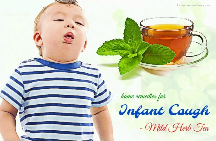 home remedies for infant cough - mild herb tea