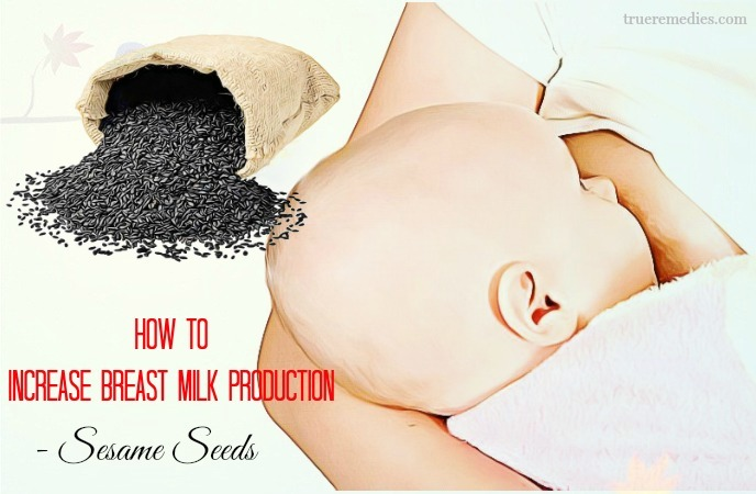 how to increase breast milk production after delivery - sesame seeds