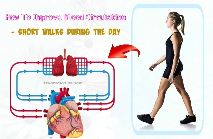 how to improve blood circulation - short walks during the day