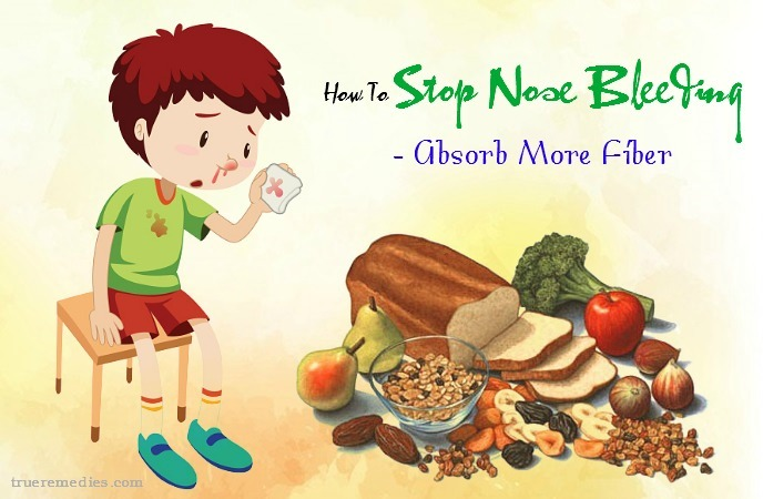 how to stop nose bleeding - absorb more fiber