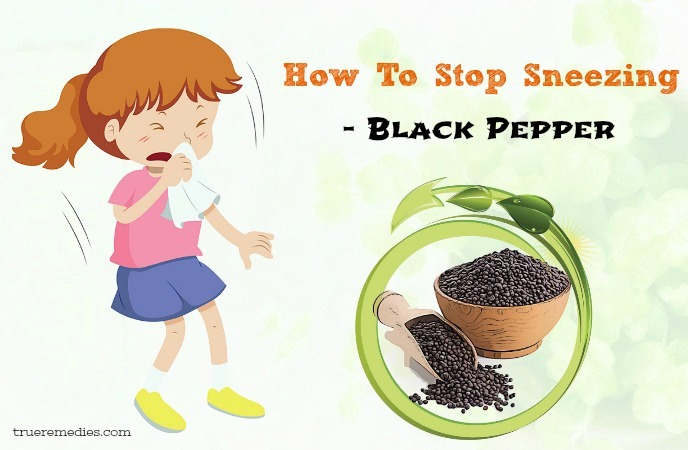 tips on how to stop sneezing - black pepper