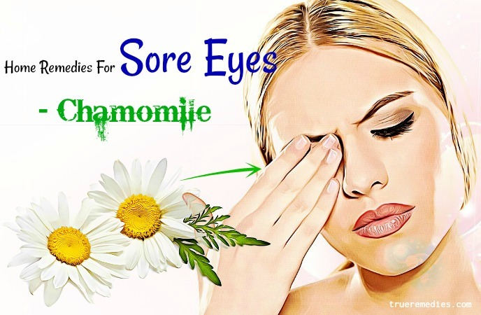 home remedies for sore eyes in toddlers - chamomile