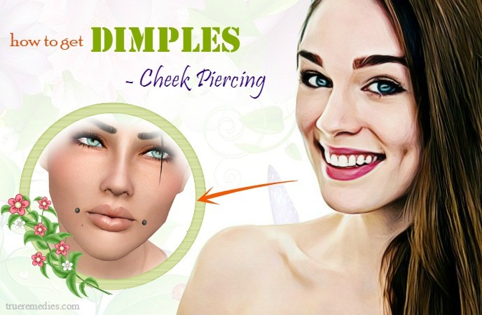 how to get dimples in your cheeks - cheek piercing