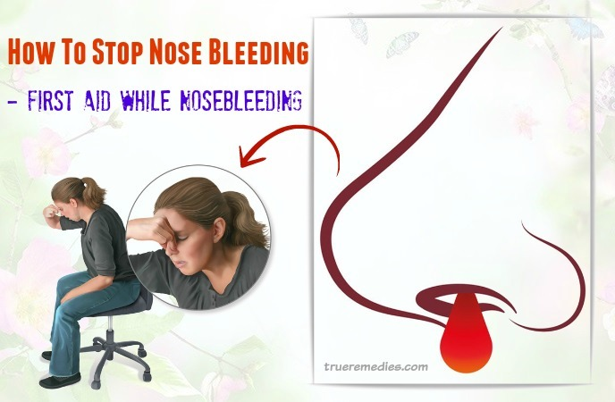 how to stop nose bleeding at home - first aid while nose bleeding