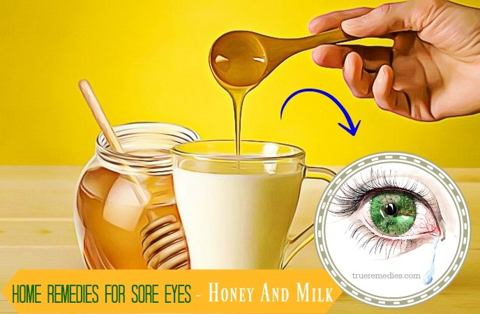 home remedies for sore eyes - honey and milk