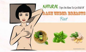tips on how to get rid of rash under breasts