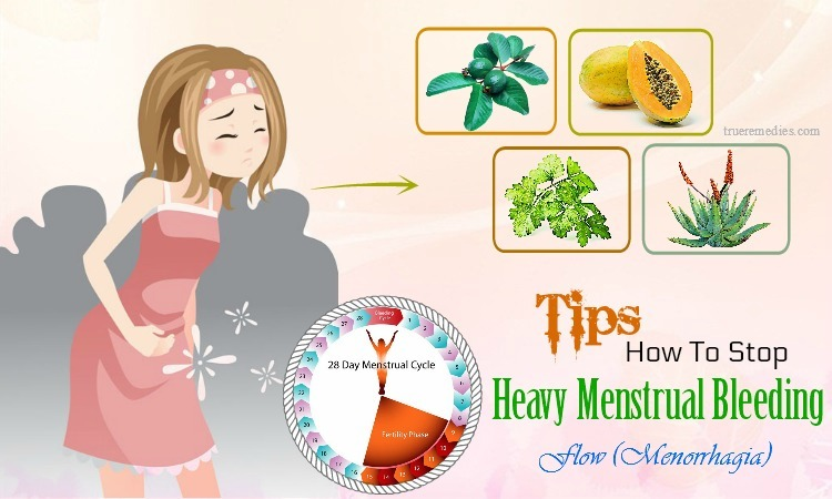 how to stop heavy menstrual bleeding flow
