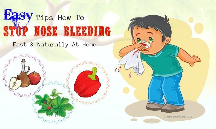 how to stop nose bleeding fast
