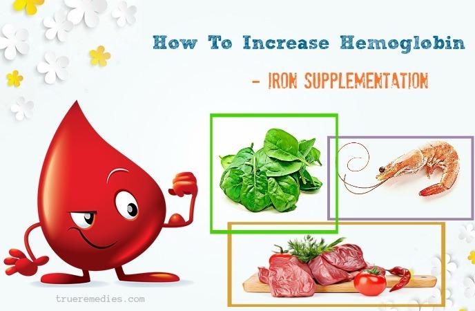 how to increase hemoglobin in body - iron supplementation