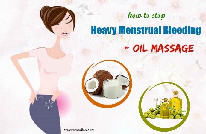 how to stop heavy menstrual bleeding flow - oil massage