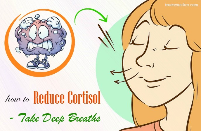 how to reduce cortisol levels - take deep breaths