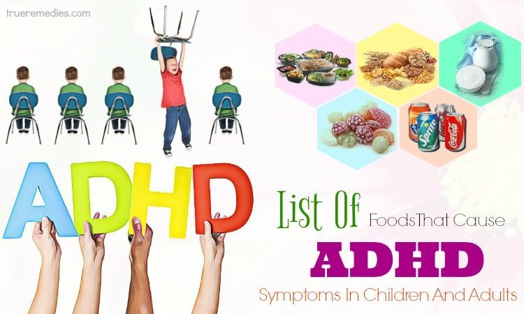 list of foods that cause adhd