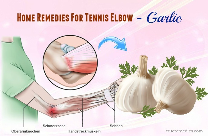 home remedies for tennis elbow pain - garlic