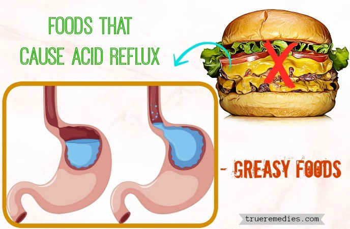list of foods that cause acid reflux - greasy foods