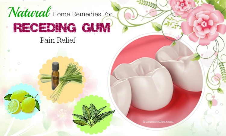 home remedies for receding gum pain