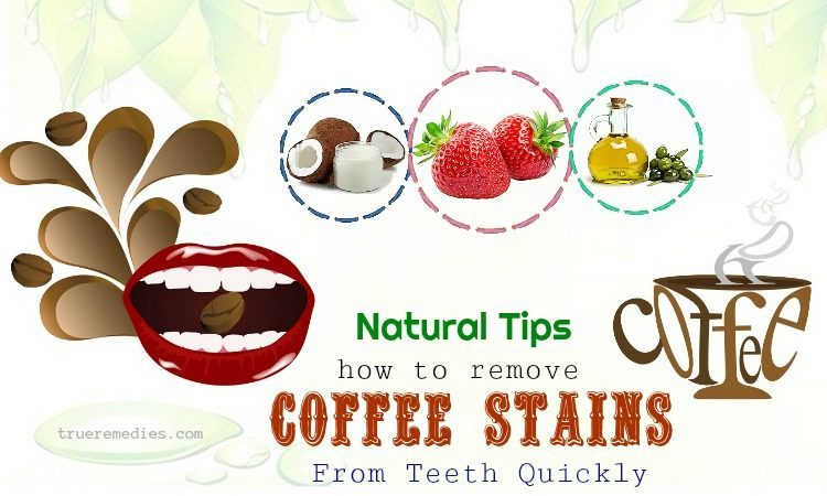 how to remove coffee stains quickly