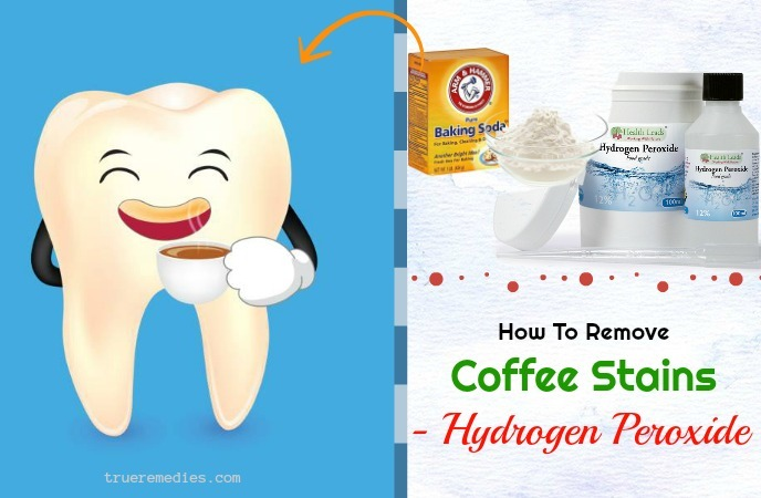 how to remove coffee stains from teeth - hydrogen peroxide
